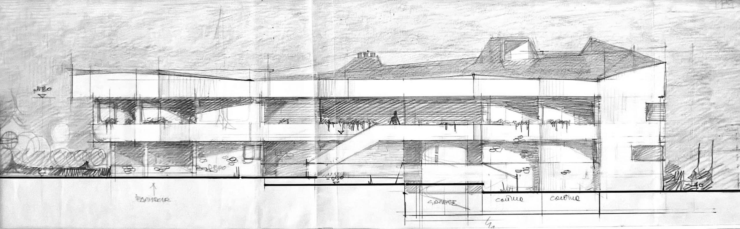 5 -  Edificio residenziale con annessa farmacia, Teggiano (SA) - Prospetto