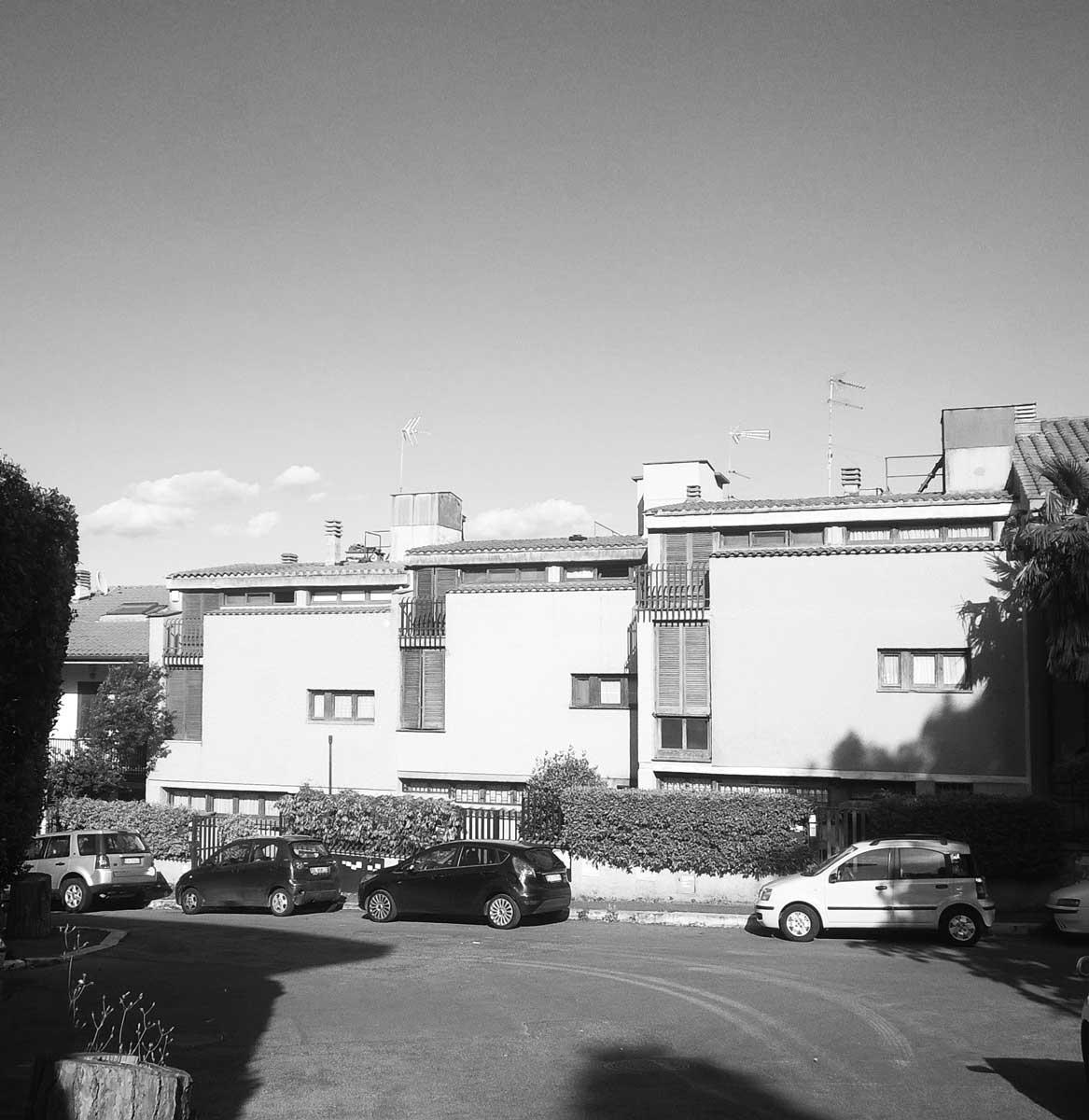 5 - Edificio residenziale a schiera in via Reina, Roma - Giustiniana - Vista esterna