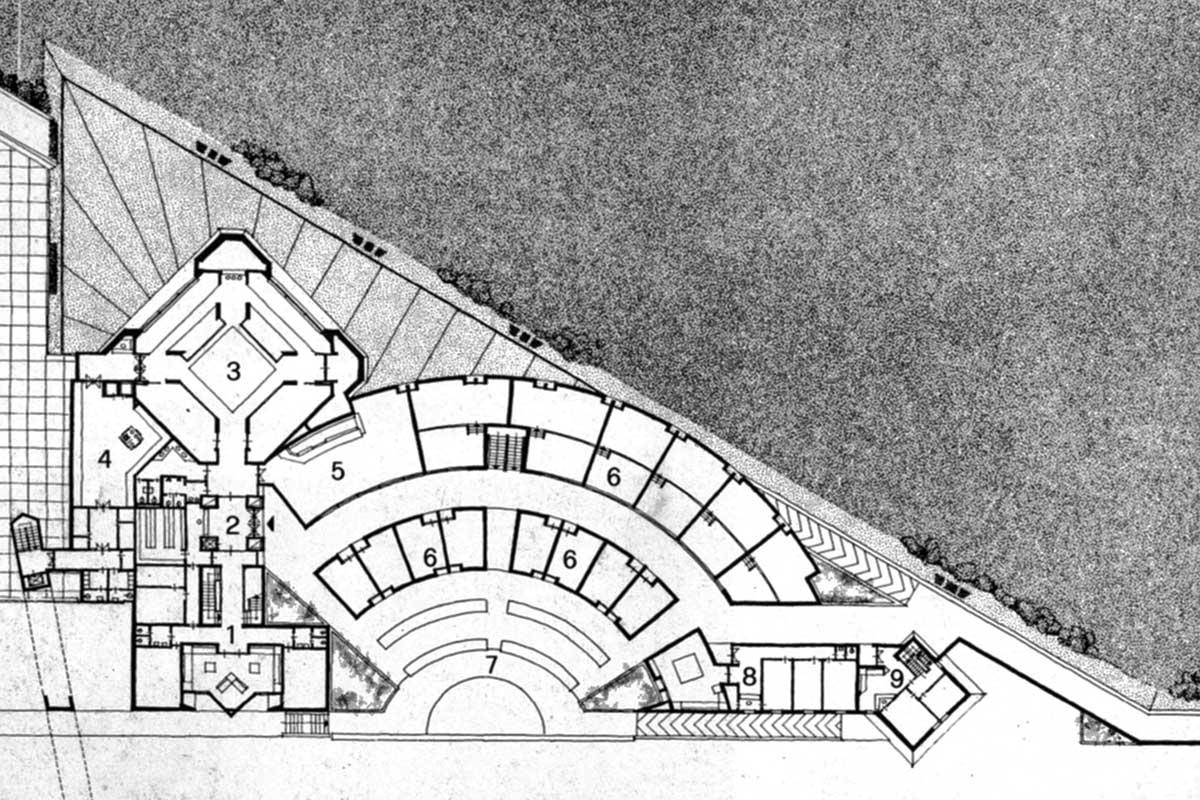 5 - Progetto del nuovo porto turistico di Anzio (RM); con M. Ranzi e Tecnoarch Srl - Pianta