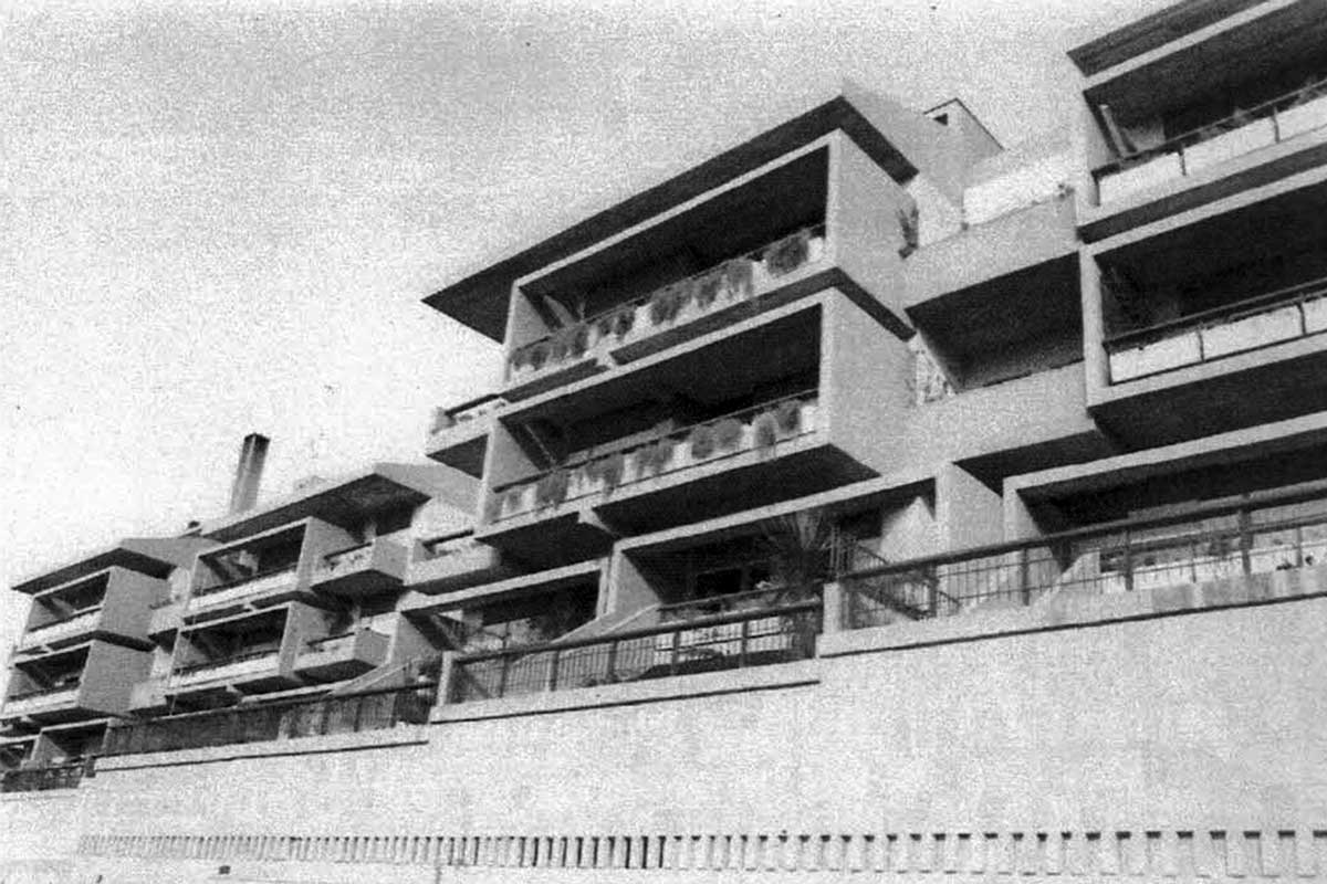 5 - Tre edifici a destinazione residenziale nella lottizzazione convenzionata NIR a Roma; con A. Sonnino - Vista esterna