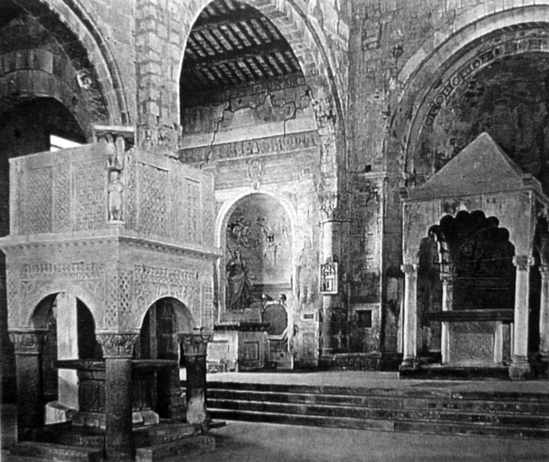 6 - Restauro della Chiesa di S. Maria Maggiore, Tuscania (VT) - Vista interna