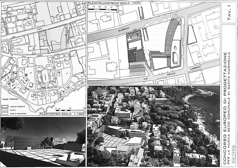 6 - Progetto del nuovo municipio di Santa Marinella (RM). Concorso - Tavola di concorso