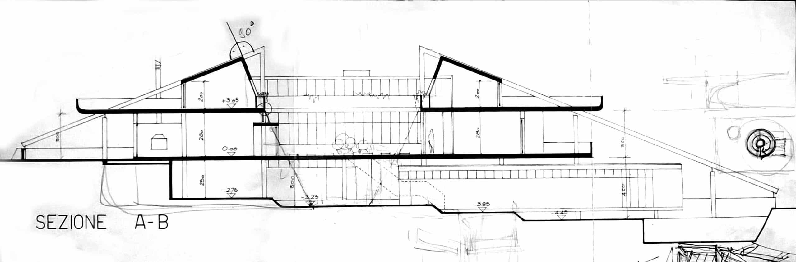 7 -  Progetto di casa unifamiliare, Teggiano (SA) - Sezione