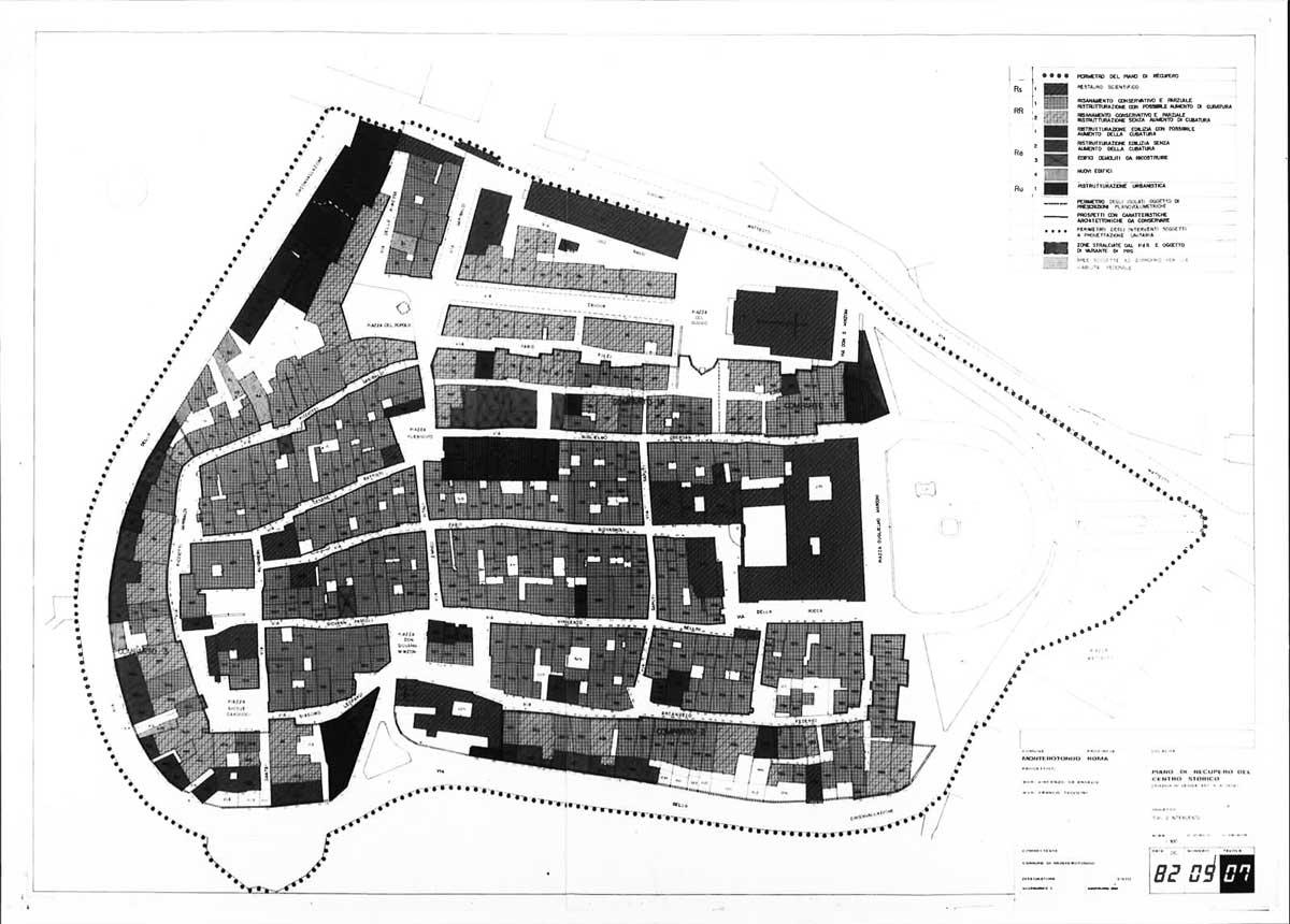 8 - PdR del centro storico di Monterotondo (RM); in collaborazione - Tipologia degli interventi e analisi urbanistica