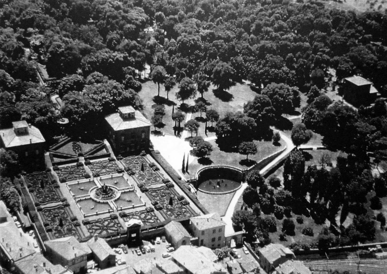 8 - Restauro di Villa Lante e del parco, Bagnaia (VT) - Vista aerea