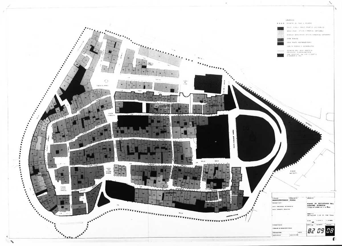 9 - PdR del centro storico di Monterotondo (RM); in collaborazione - Tipologia degli interventi e analisi urbanistica