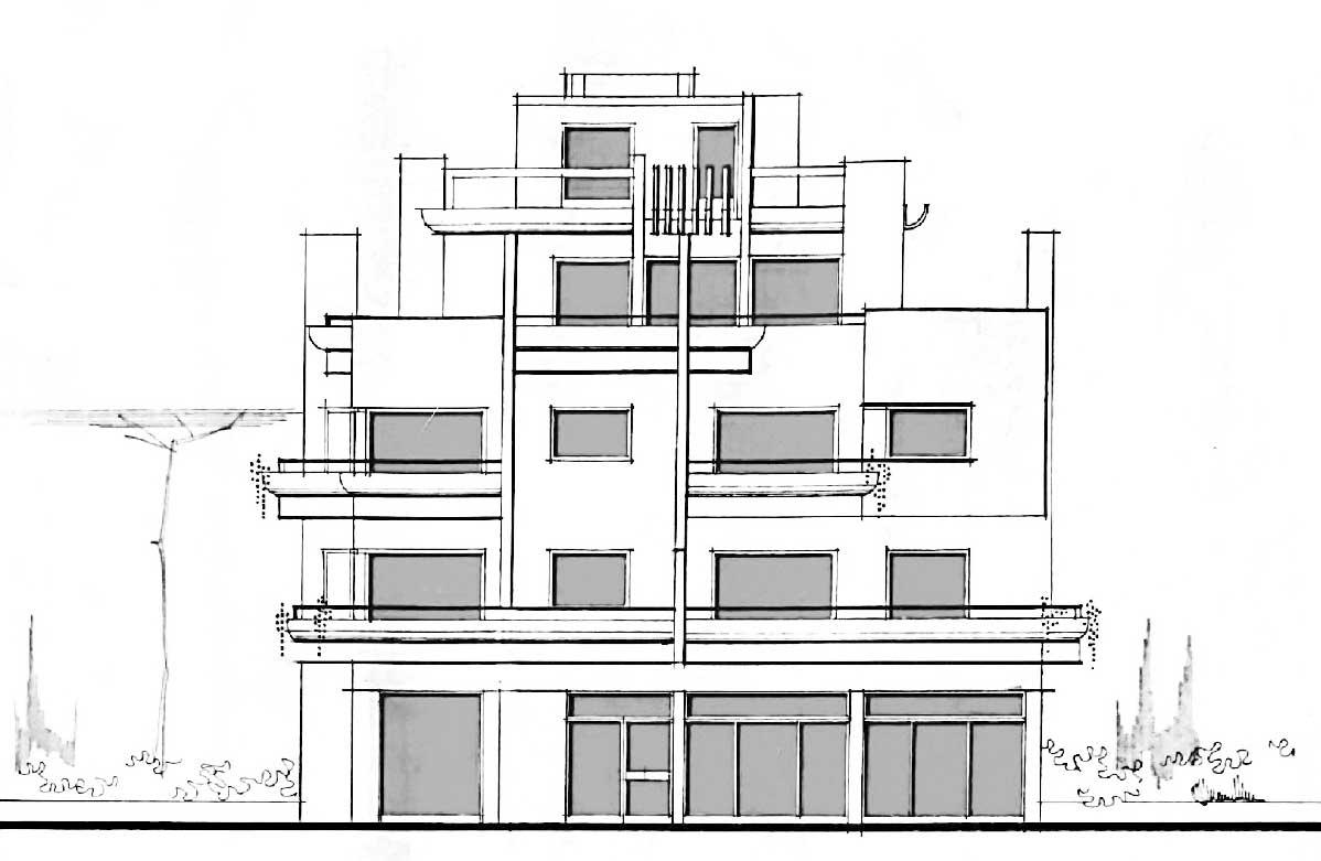 9 - Palazzina residenziale in via Giovanni Acquaderni, Roma - Prospetto est