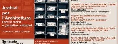 Archivi per l'Architettura – 2° parte