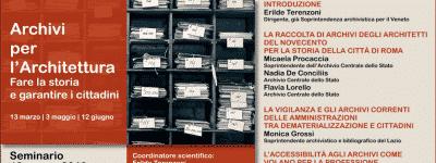 Archivi per l'Architettura – 1° parte
