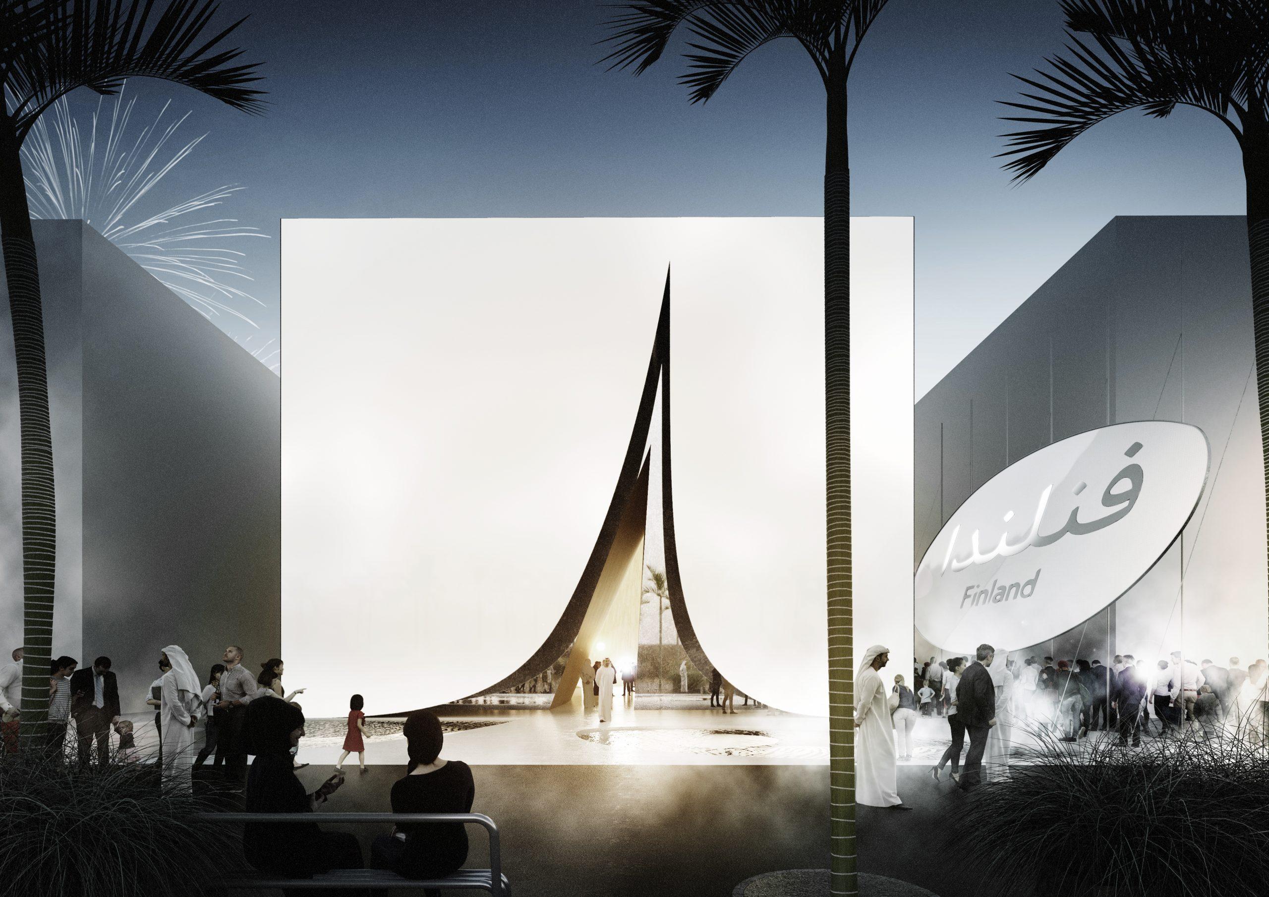 Finlandia 4 - JKMM Architects Finland Pavilion Dubai Expo 2020 Main entrance