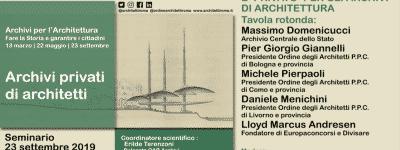 Archivi privati di architetti – 2° parte