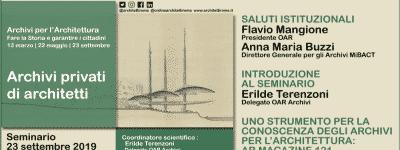 Archivi privati di architetti – 1° parte