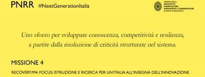 Recovery/M4. Focus: Istruzione e ricerca per un'Italia all'insegna dell'innovazione