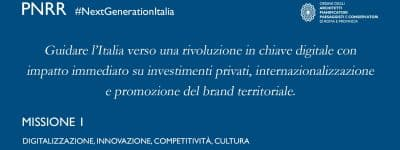 Recovery/M1. Digitalizzazione, Innovazione, Competitività e Cultura per rilancio rapido Paese