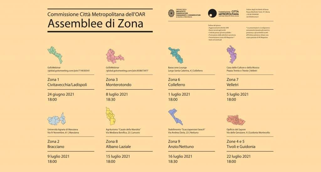 ASSEMBLEE DI ZONA iscritti OAR in provincia 9