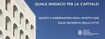 SPAM Restart! Call iscritti OAR: quale sindaco per Roma? Raccolta quesiti per i candidati al Campidoglio