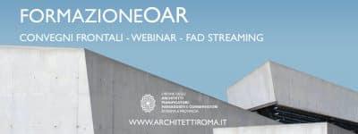 Formazione OAR. Convegni, seminari, webinar, fad: oltre 650 eventi erogati, l'85% gratuiti